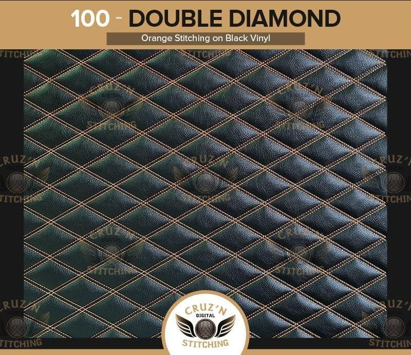 100 Cruzn Digital Stitching Double Diamond