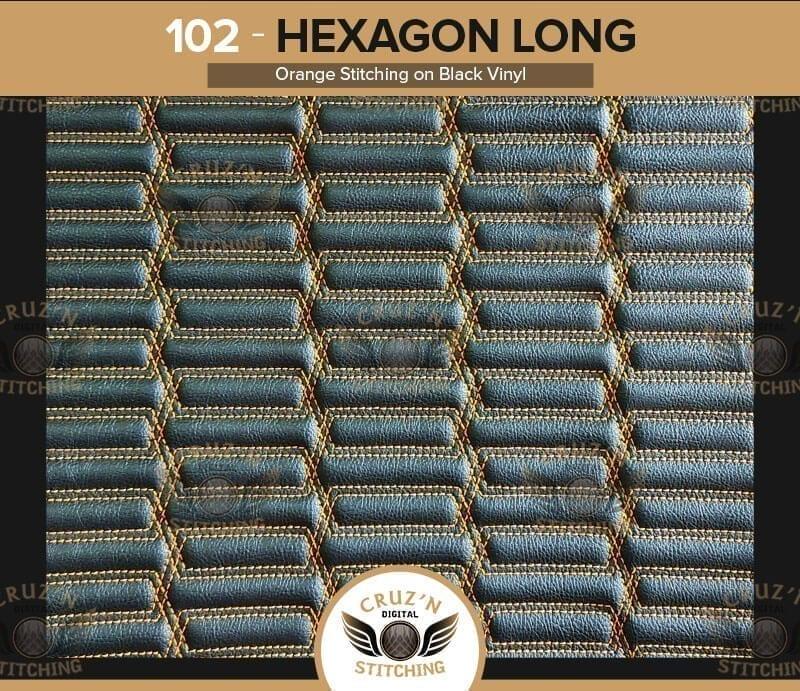 102 Cruzn Digital Stitching Hexagon Long Orange