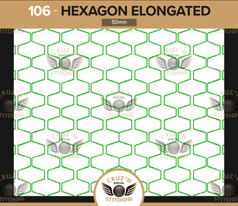 106 Cruzn Digital Stitching Hexagon Elongated 50mm