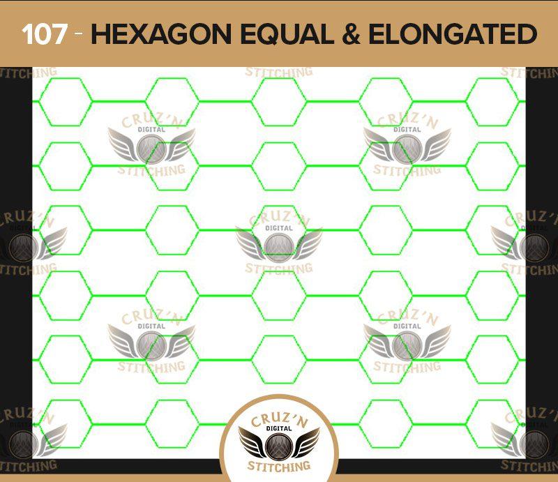 107 Cruzn Digital Stitching Hexagon Equal and Elongated
