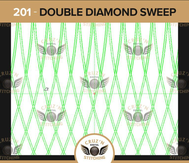 201 Cruzn Digital Stitching Double Diamond Sweep