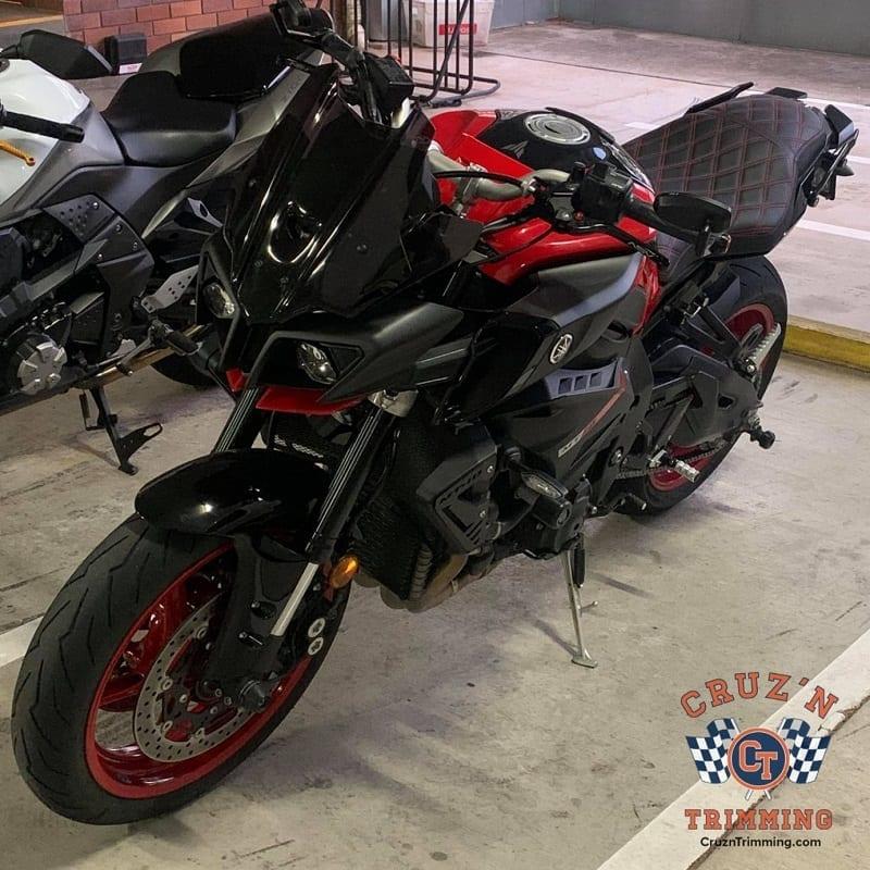 Yamaha MT 10 Custom Motorcycle Seat Cruzn Trimming 10