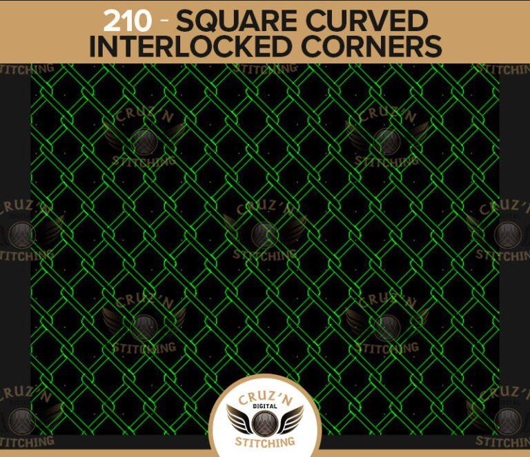 210 Cruzn Digital Stitching Square Curved Interlocked Corners