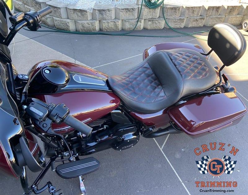 Harley Davidson CVO Street Glide Custom Motorcycle Seats 2