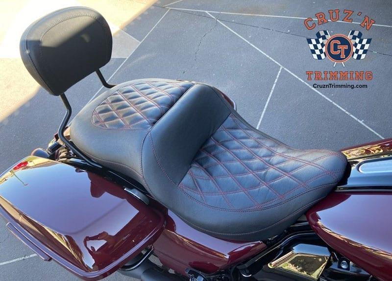 Harley Davidson CVO Street Glide Custom Motorcycle Seats 3