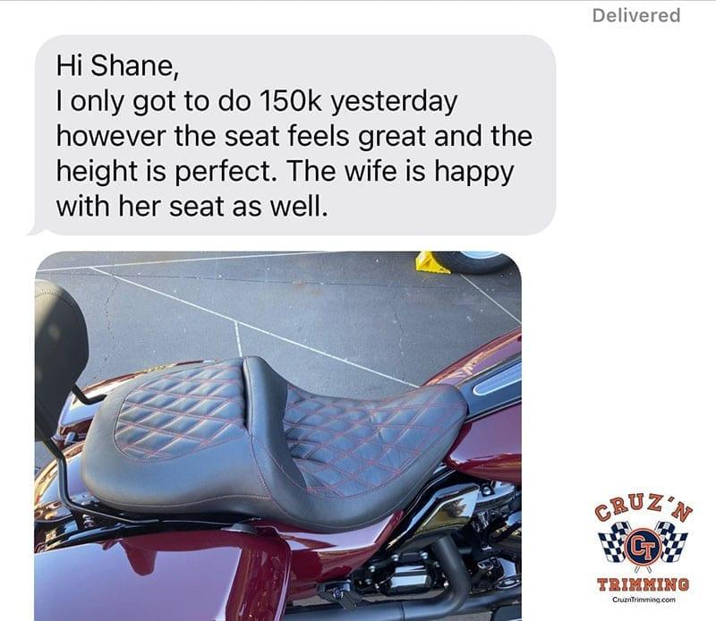 Harley Davidson CVO Street Glide Custom Motorcycle Seats 8