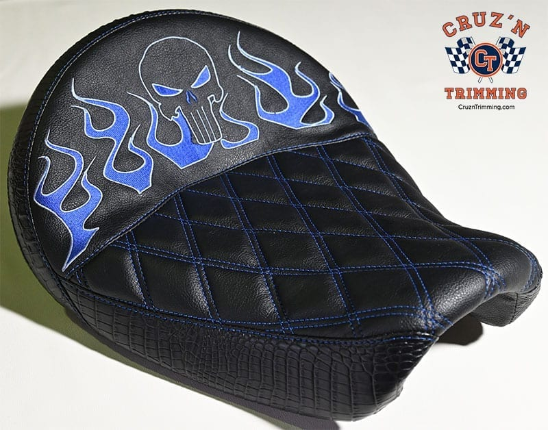 Harley Davidson Dyna Wide Glide Motorcycle Seats - Embroidery 1