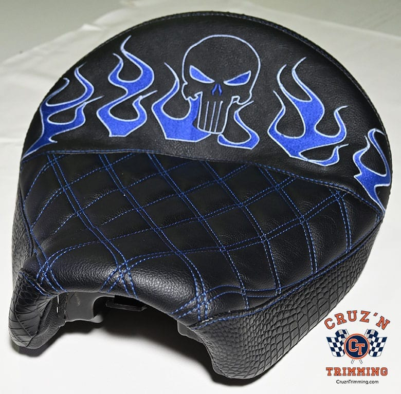 Harley Davidson Dyna Wide Glide Motorcycle Seats - Embroidery 2