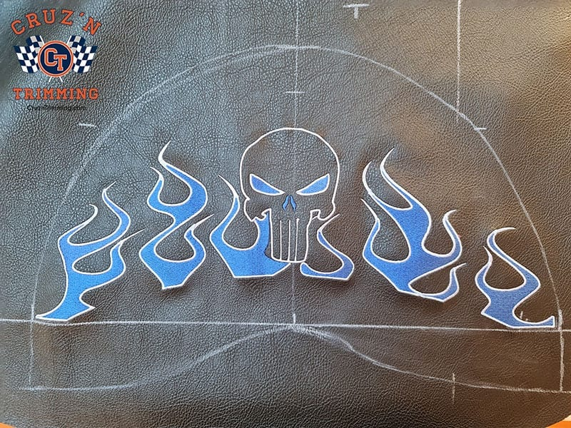 Harley Davidson Dyna Wide Glide Motorcycle Seats - Embroidery 3