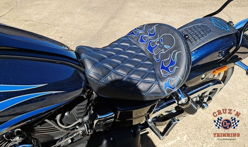 Harley Davidson Dyna Wide Glide Motorcycle Seats - Embroidery 6