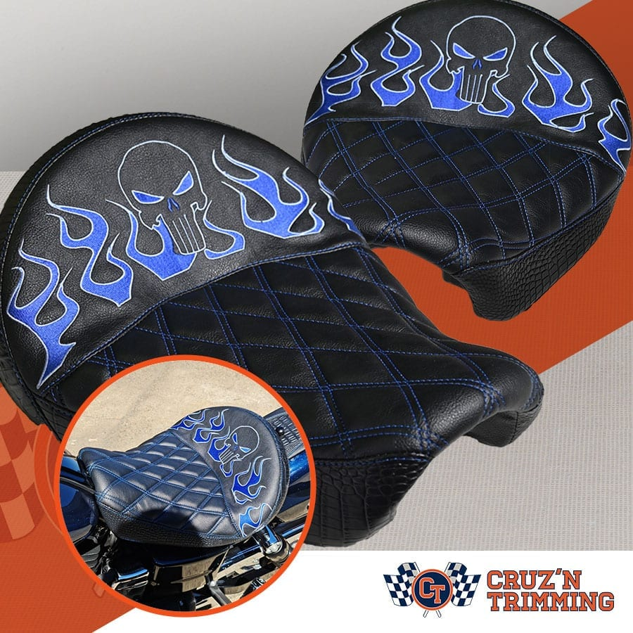 Harley Davidson Dyna Wide Glide Motorcycle Seats - Embroidery Producgt Ad 1