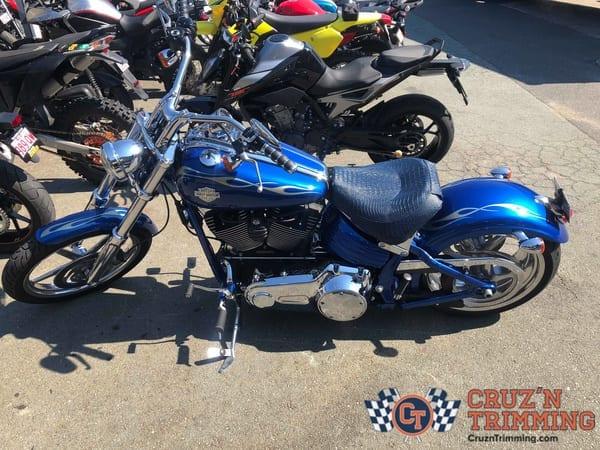 Harley Davidson Rocker C Custom Motorcycle Seat Cruzn Trimming 5