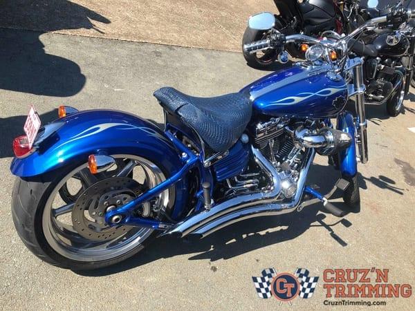 Harley Davidson Rocker C Custom Motorcycle Seat Cruzn Trimming 6