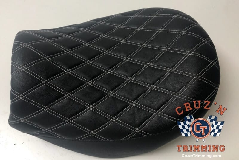Triumph Rocket Motorcycle Seats Side Top View